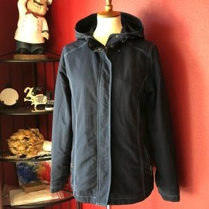 EDDIE BAUER NAVY RAINCOAT